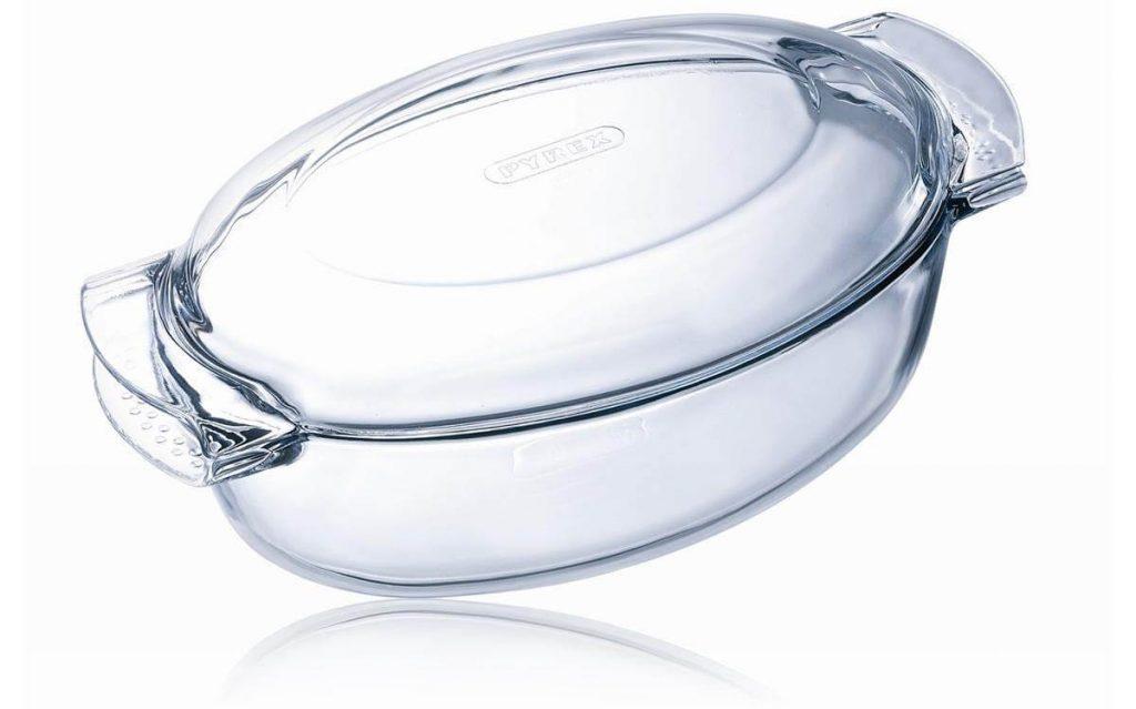 cacerola pyrex vidrio oval
