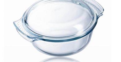 cacerola vidrio con tapa pyrex